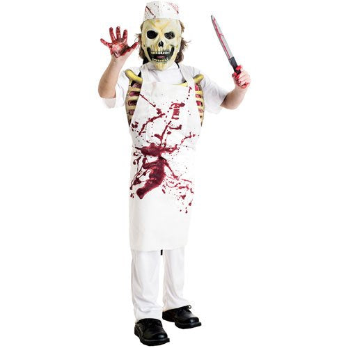 New Boys Meat Man Butcher Fancy Dress Halloween Costume
