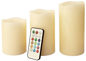 Anika 3pc Flameless LED Candles ~ Remote Control ~ Colour Changing ~ 76240