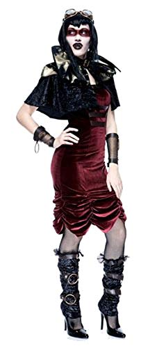PAPER MAGIC Steampunk Vampire Sexy Goth Cyber Punk Costume - SMALL