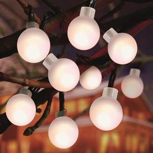 80 White Multi Action Frosted Ball Lights