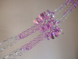 PINK AND SILVER 4 SECTION FOIL GARLAND (9ft)