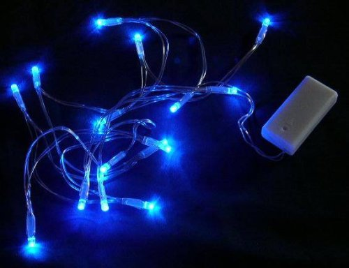 Battery Operated Blue LED Lights