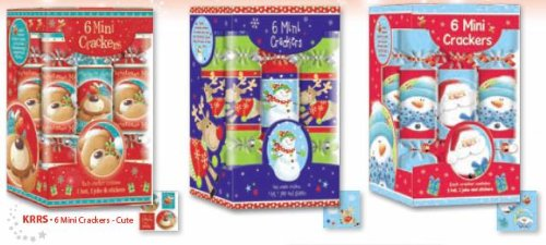 Two Packs of Six Mini Christmas Crackers - KRRS