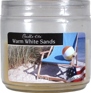 Candlelite Essentials 3-1/2-Ounce Jar Candle, Warm White Sands