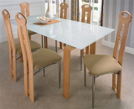 LIVIGNO DINING TABLE & 6 CHAIRS