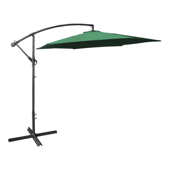 3M Cantilever Banana Parasol 6 Ribs Hanging Umbrella with Crank mechanism