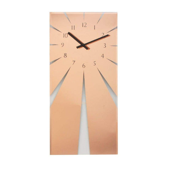 Widdop Glass Copper Wall Clock