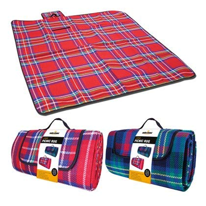 GardenKraft Large Picnic Rug - Assorted Red or Blue (subject to availabilty)