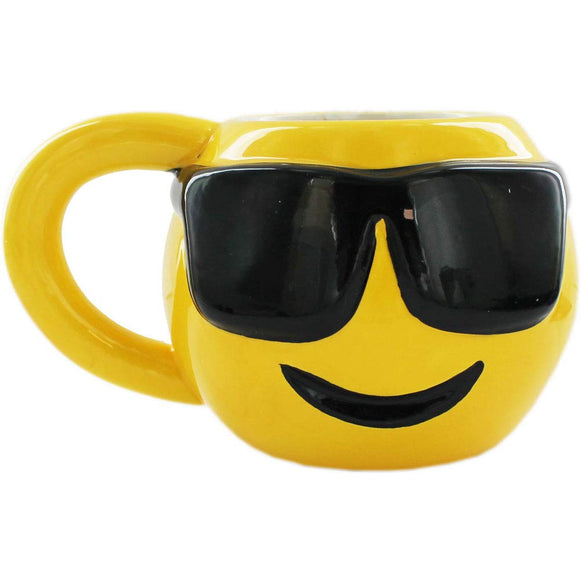 Emoji Cool Sunglasses Face Mug