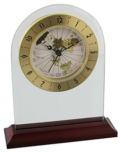 Wm.Widdop Arched Shaped Mantel Clock with World Dial