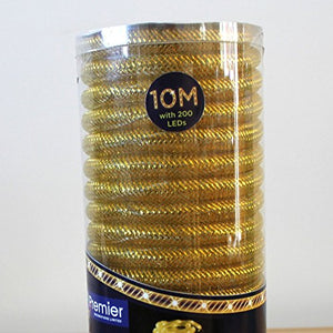 10m Mesh Rope Lights with 200 LED Lights Decorations (Yellow)
