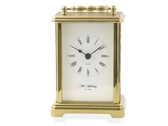 Widdop Brass Effect Carriage Clock - w4307