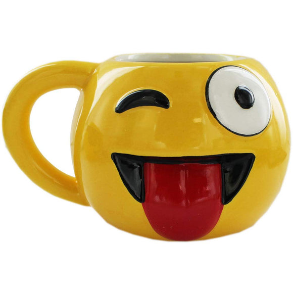Emoji Wink Tongue Mug