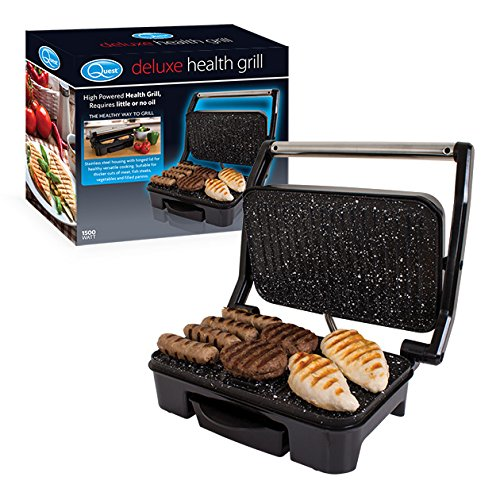 Stainless Steel Deluxe Health Grill and Panini Sandwich Press