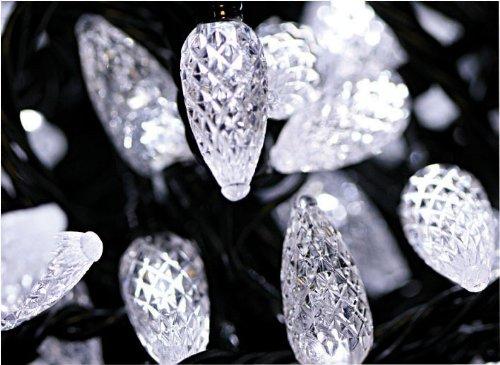 Multi-Action 100 LED Strawberry Lights White
