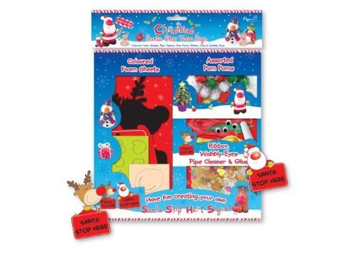 Create Your Own Santa Stop Here Sign Foam Sheets