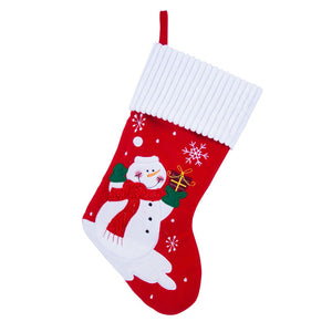 LARGE LUXURY PLUSH CHRISTMAS SNOWMAN XMAS STOCKING SACK