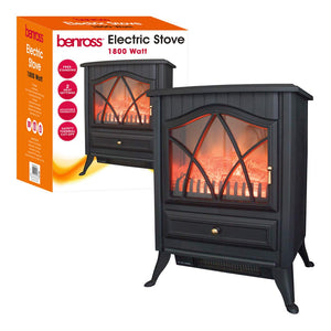 Benross Cast Iron Effect Electric Stove ~ 1800w ~ Black ~ 44230