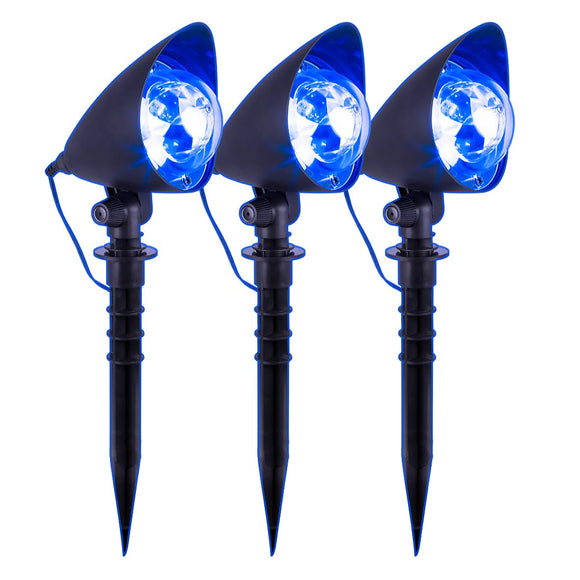 Global Gizmos Projector Stake Lights, Cool Blue
