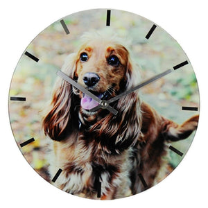 Best Of Breed Collection Dog Lover Glass Wall Clock - Spaniel
