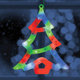 Multi Coloured LED Window Light Christmas Tree