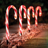 The Christmas Workshop 70359 Red & White Candy Cane LED Path Light-25cm Tall, 1