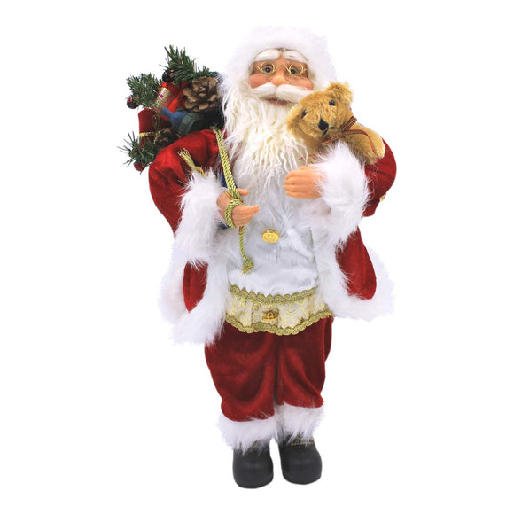 Santa Claus Figure ~ 45cm ~ Indoor ~ Red & White