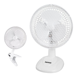 6 Inch Desk/Clip Fan