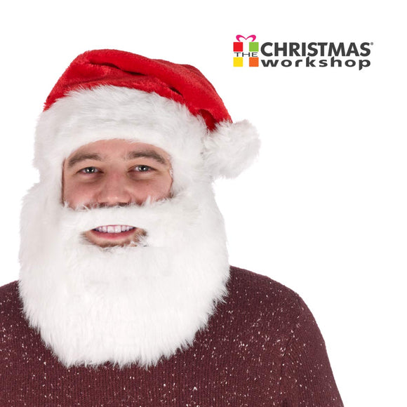 Santa Hat with Beard, Men, Women,