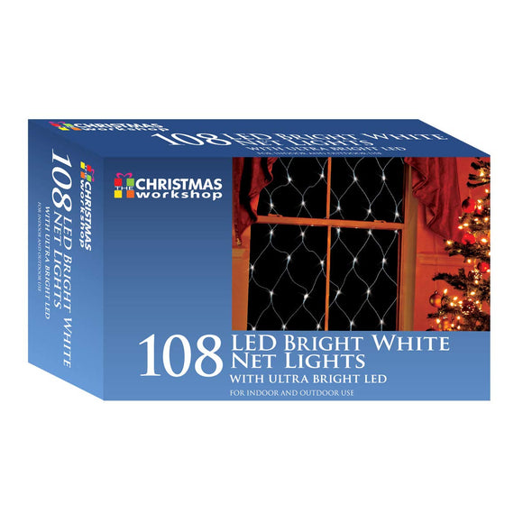 108 LED Bright White net lights, Indoor and Outdoor