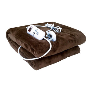 Bauer Professional Super Soft Luxury Heated Blanket ~ Chocolate Brown ~ 120x160cm ~ 39040