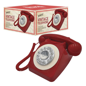 Benross 44510 Classic Retro Vintage Style Home Telephone - Red