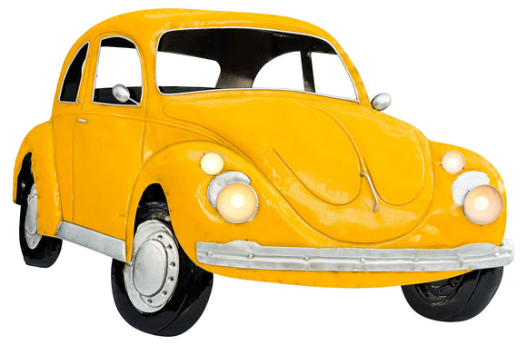 Febland YELLOW VOLKSWAGEN BEETLE 3D METAL WALL ART, 9 x 77.5 x 51 cm