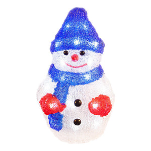 Acrylic Snowman 24 LED ~ Bright White