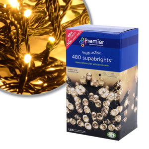 480 Warm White Multi-Action Lights
