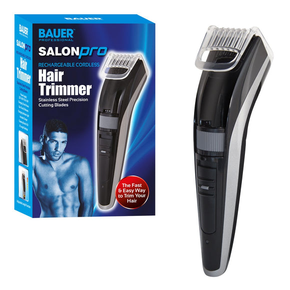 Bauer Professional SalonPro Men's Hair Trimmer and Clippers ~ Rechargeable, Cordless ~ 38770