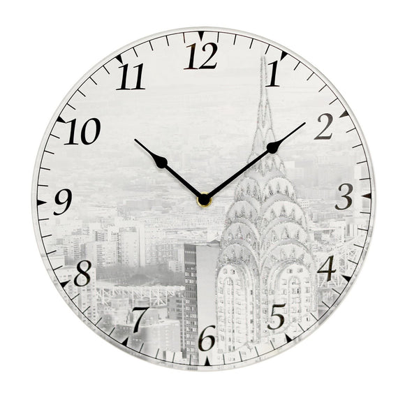 Widdop Wall Clocks, Glass,Metal,Plastic, One Size