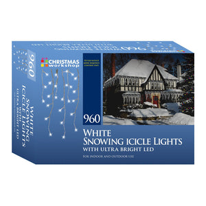960 LED Ultra Bright white, snowing, Indoor and Outdoor, Icicle lights
