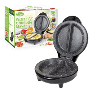 Nutri-Q 35650 Healthy Eating Twin Double Marble Coated Ceramic Plates Omelette Maker, Plastic, 700 W