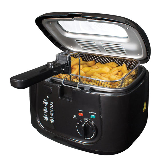 Quest 2.5L Deep Fat Fryer With Removeable Lid - Black