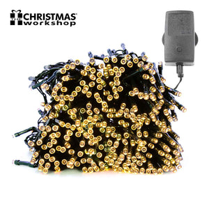 200 LED Warm White Chaser lights, Indoor and Outdoor