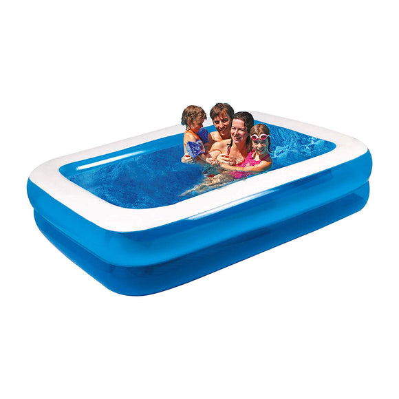 Family Inflatable Rectangular Paddling Swimming Pool, 2m x 1.5m