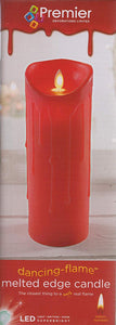 Christmas Xmas Dancing Flame Candle 23cm in red
