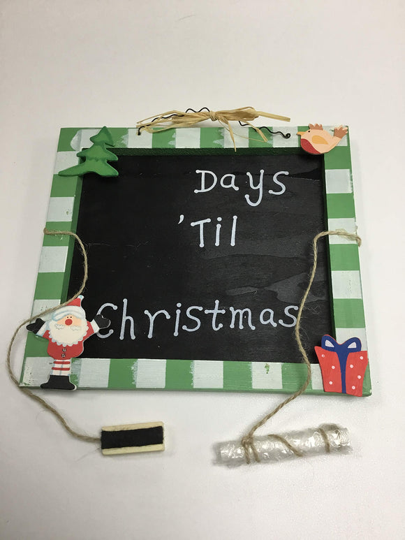 HARTES 2 x Countdown To Christmas Chalkboards