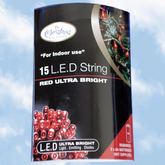 Battery Operated Red LED Lights