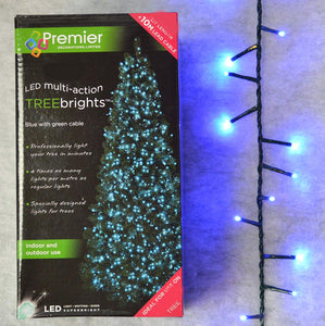TreeBrights Cluster Christmas Tree Lights in Blue