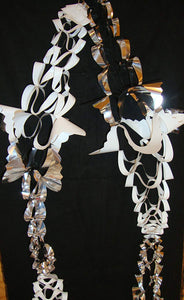Silver and white Foil Hanging Garland Decoration 2.7m