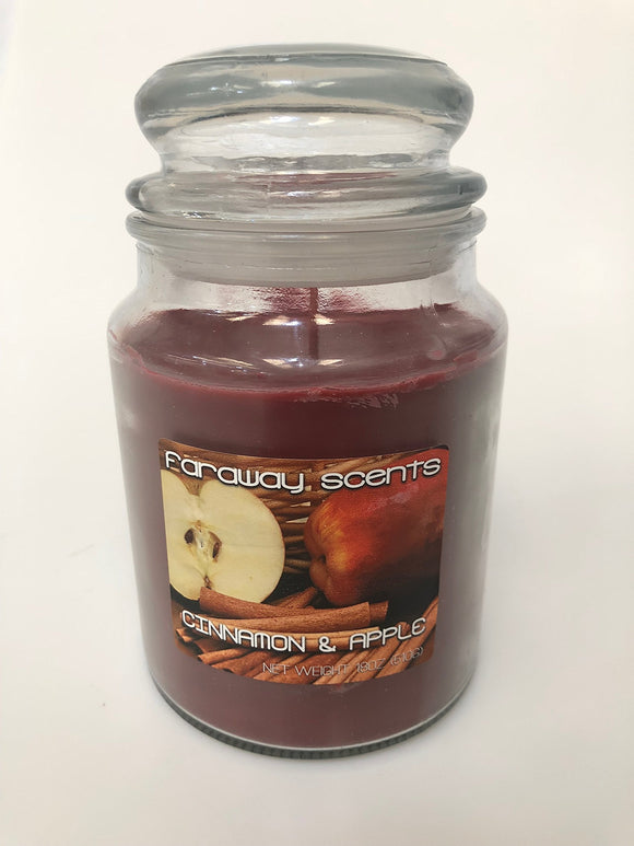 Liberty Candle Faraway Scents Cinnamon and Apple Jar