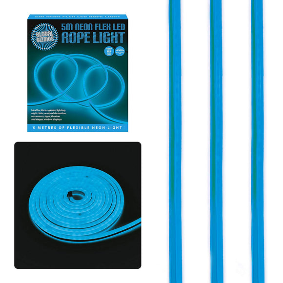 5 Metre LED Neon Flex Decorative Rope Light-Blue
