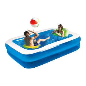 Family Inflatable Rectangular Paddling Swimming Pool, 3m x 1.8m